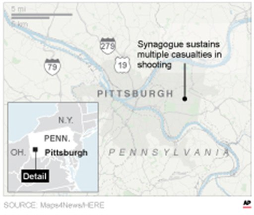 Several Casualties After Shooting At Pittsburgh Synagogue