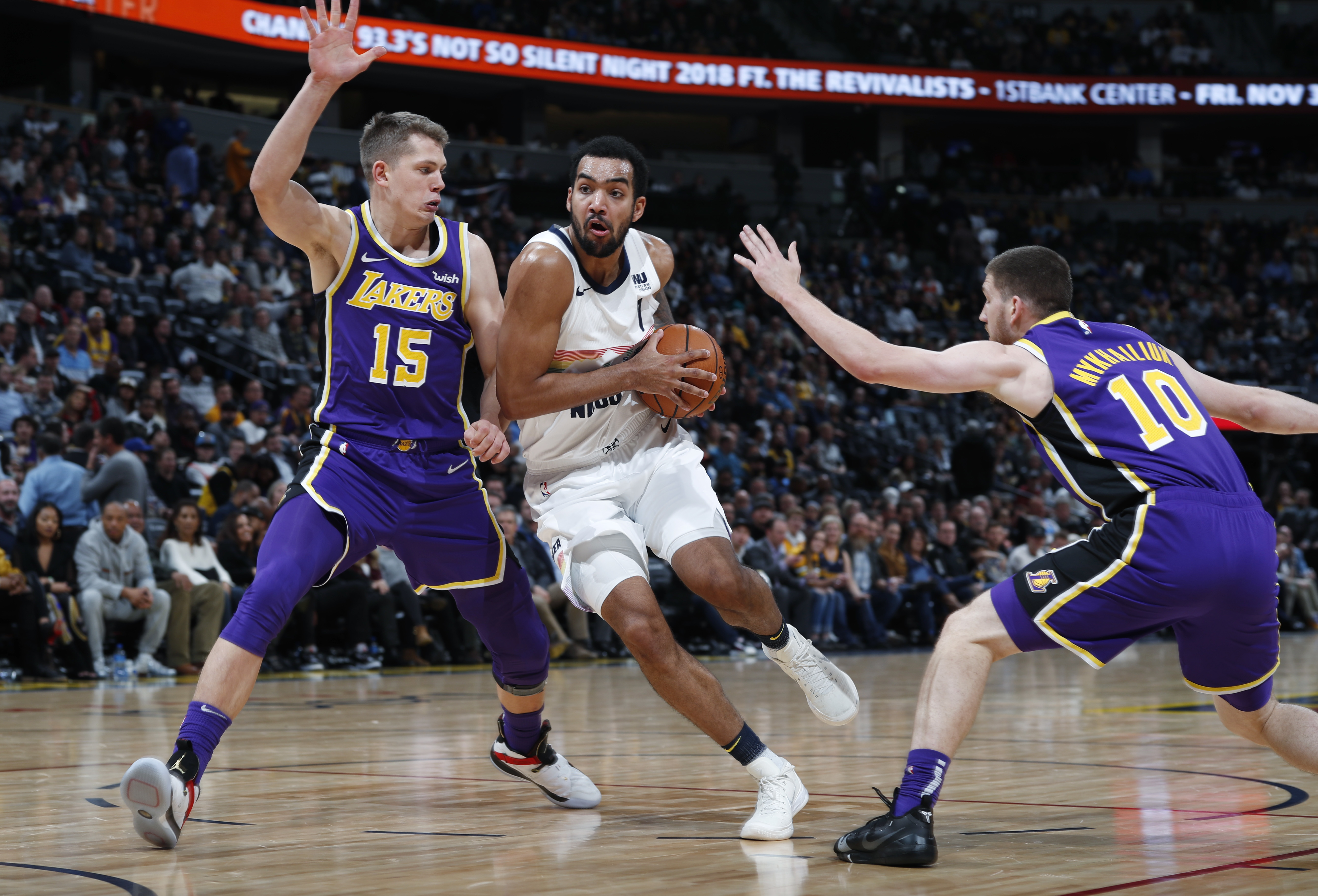ff0fd781104a Nuggets roll to biggest win over Lakers with 117-85 romp - Sentinel ...