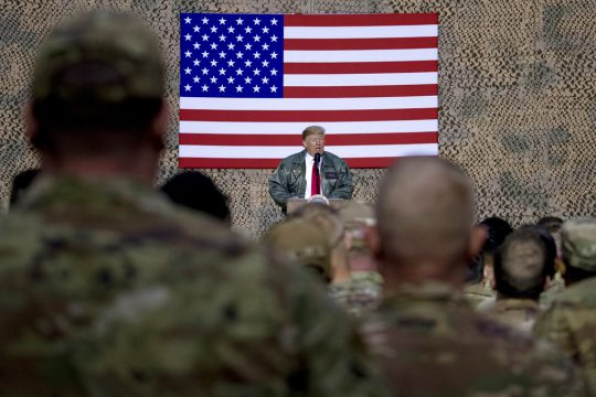 Trump, Melania visit USA troops in Iraq