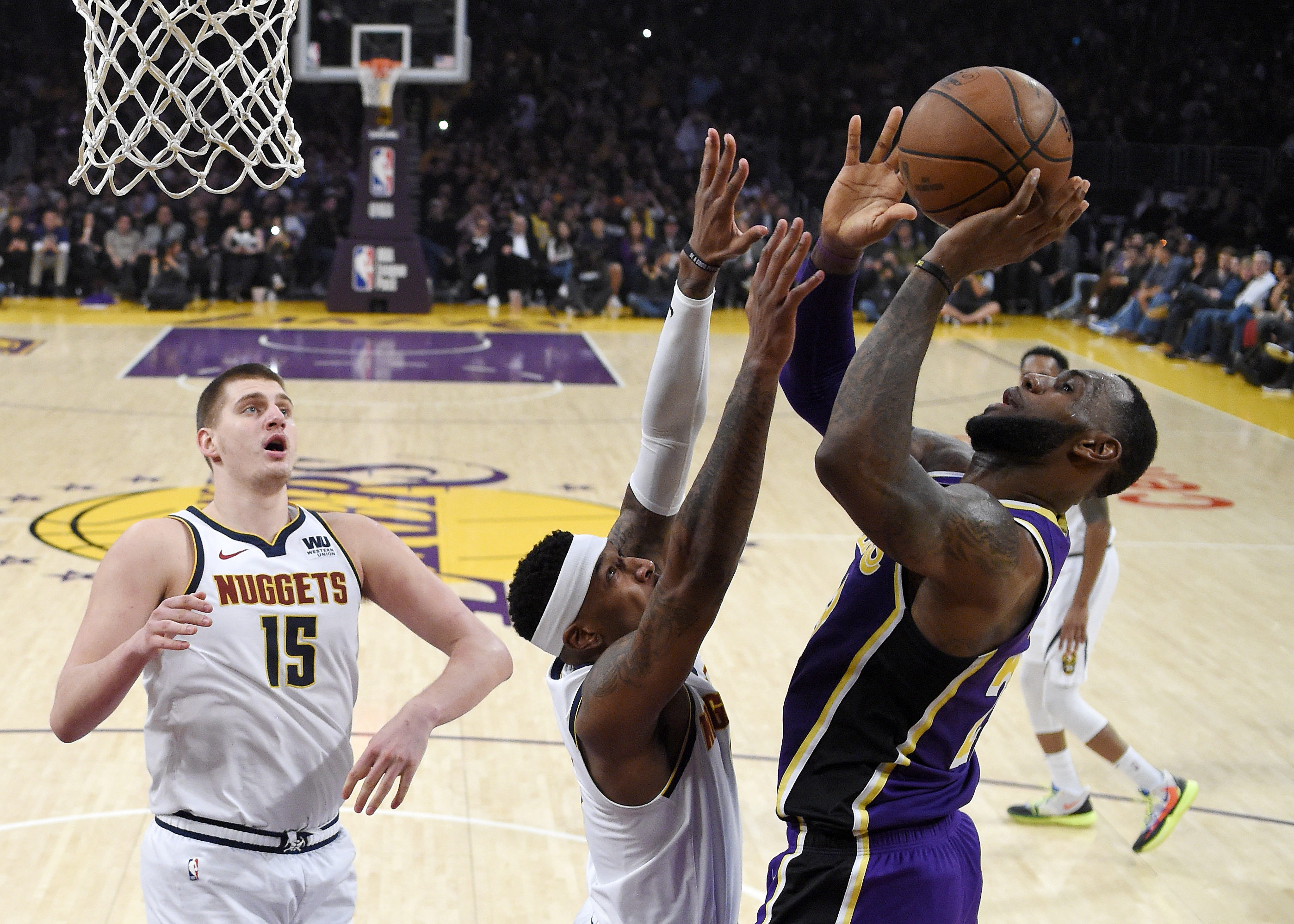 3eadae4b02d7bc Los Angeles Lakers forward LeBron James ...