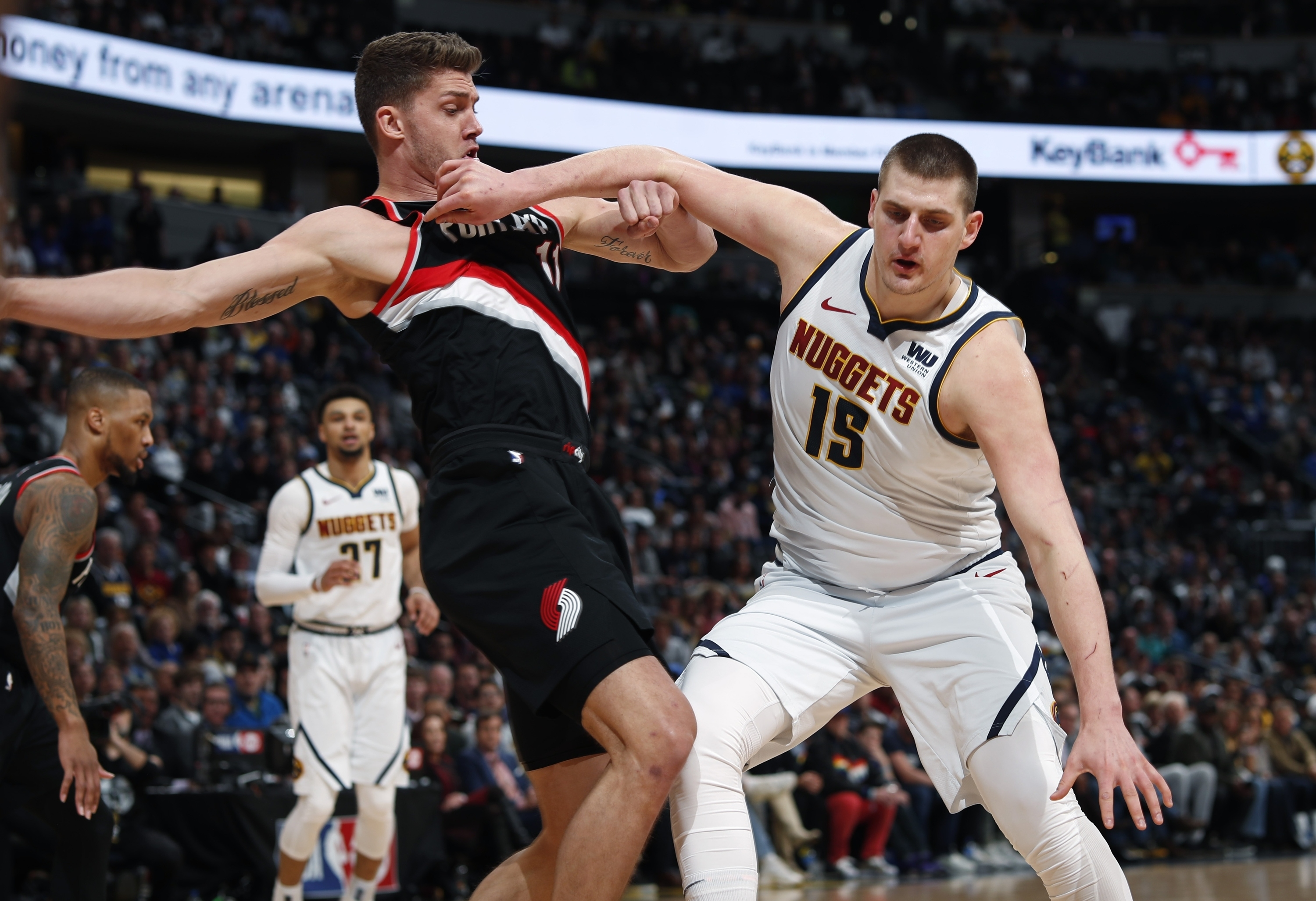 3adc0138e80f Jokic s 37 points leads Nuggets past Portland 121-113 - Sentinel ...