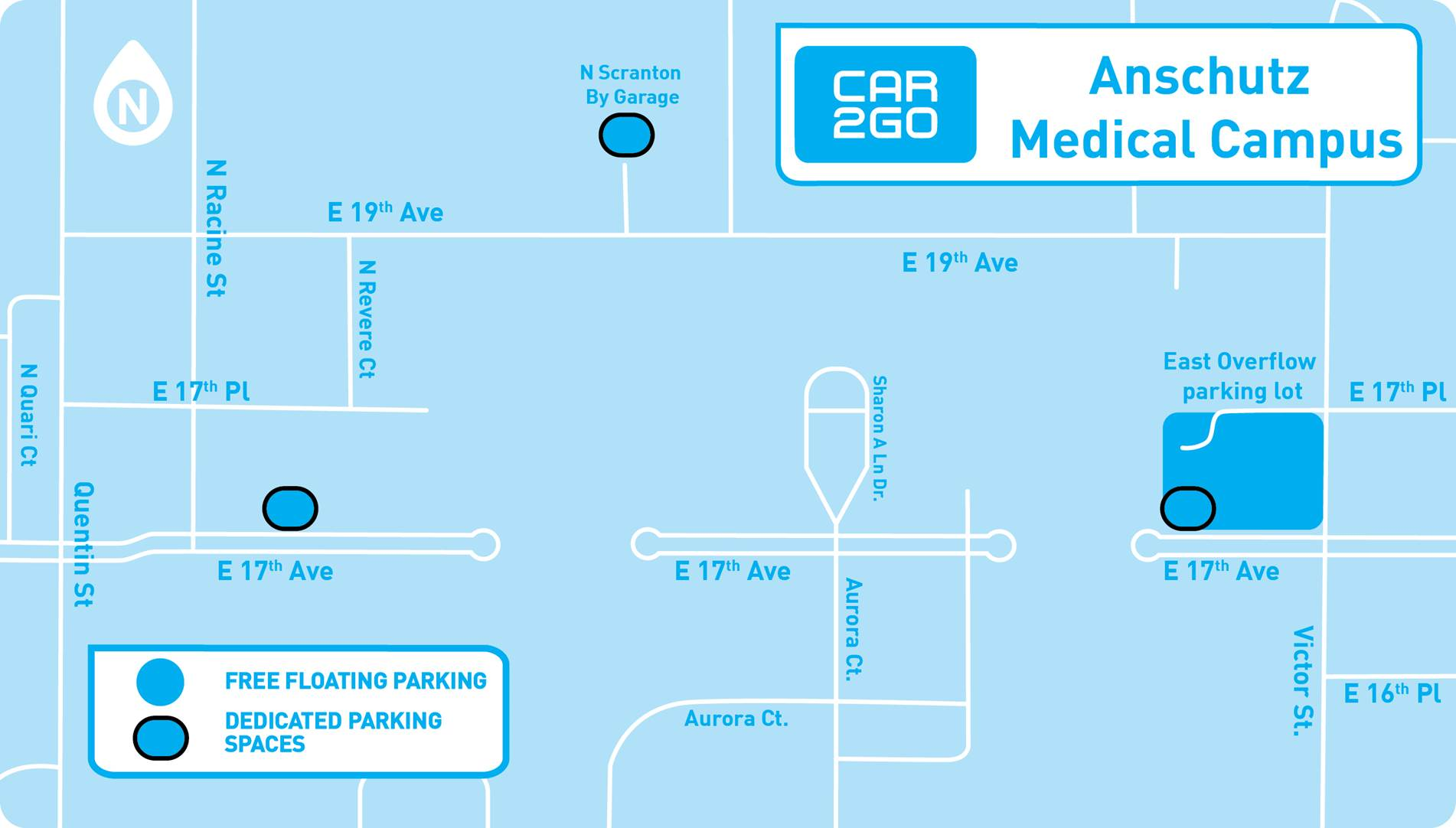 Car2go Adds Dedicated Parking Spaces To Anschutz Campus In Aurora