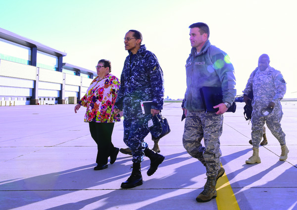 USSTRATCOM Commander observes Buckley's capabilities