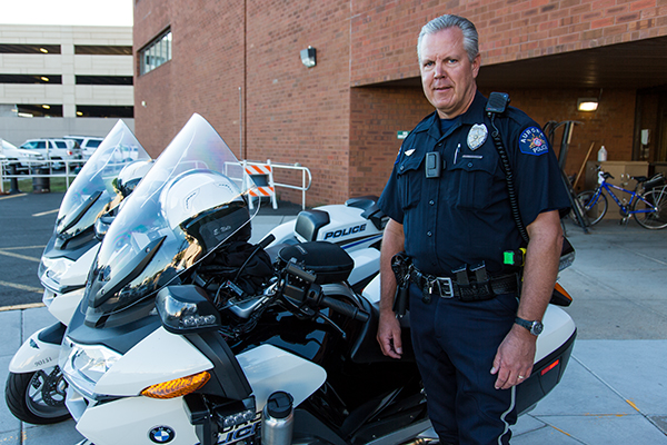 Officer Ed Nolte s VIEVU camera is part of his uniform that he dons before  going out on patrol deec1c30eb